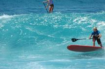 STAND UP PADDLE, longue rame surf