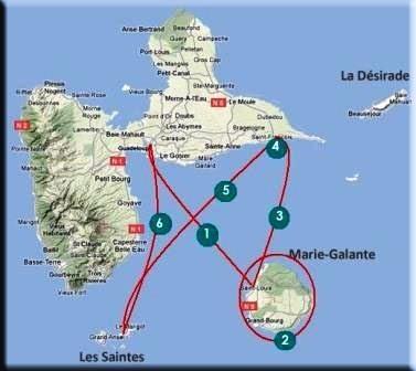 parcours en Guadeloupe de l'Hippocup 2010