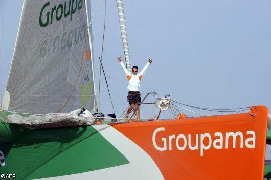 Franck Cammas Vainqueur Route du Rhum la banque postale 2010