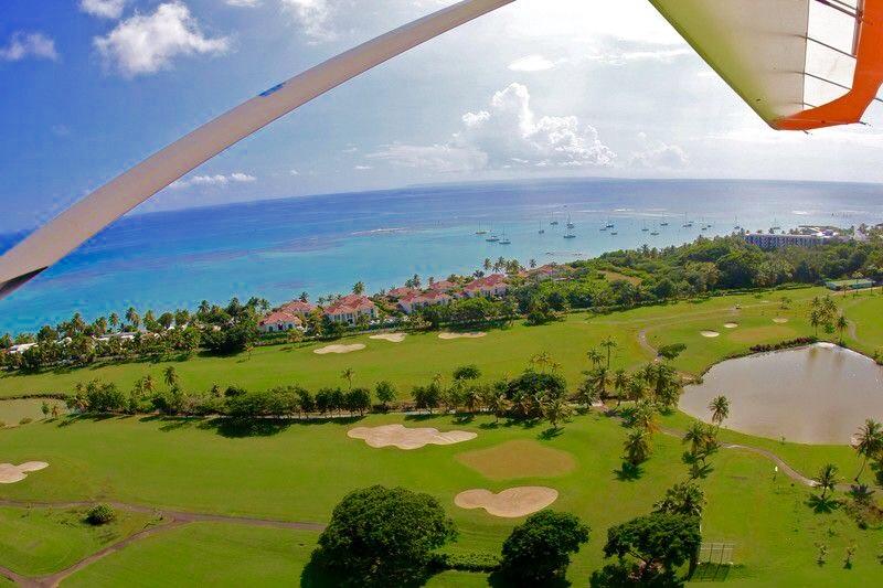 Le Golf, Les Villas Boubou de la Résidence Les Jardins du Hamak et le lagon