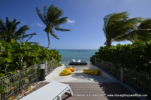 Le Lagon devant la Villa de luxe Villa Boubou en Guadeloupe