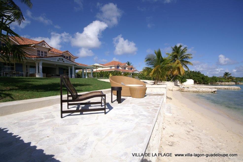 villa de la plage en Guadeloupe