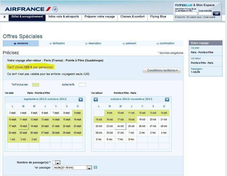 CLIQUEZ SUR LE TABLEAU POUR ACCEDER DIRECTEMENT A AIR FRANCE