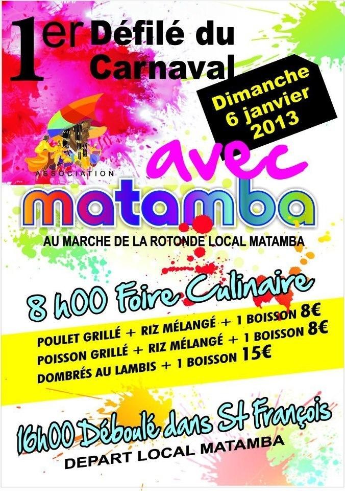 Matamba à Saint François Guadeloupe Carnaval le 06 janvier 2013