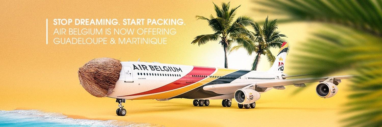 Vol Air Belgium pour la Guadeloupe