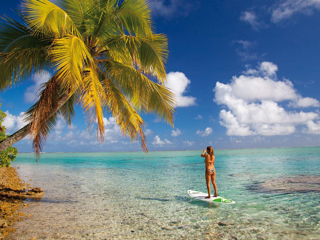 Supp Paddle dans le lagon devant les villas de Saint François Guadeloupe