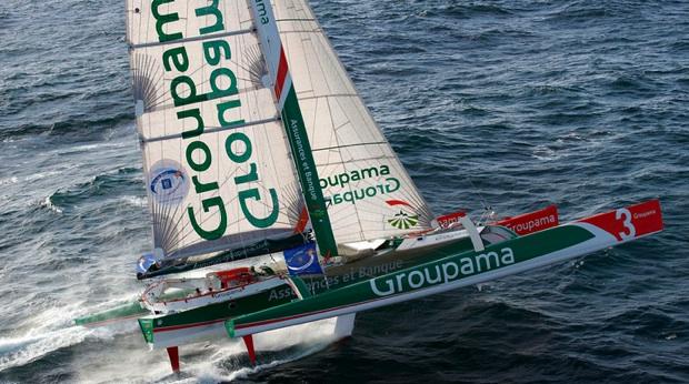 Groupama 3 vainqueur en 2010 avec Franck Cammas