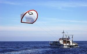 Arrivée du Kite power Boat en Guadeloupe en traversée de l'Atlantique