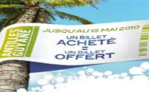 Promotion vol Air Caraibes Guadeloupe 1 billet acheté, 1 billet offert