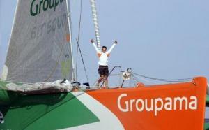 Franck Cammas a remporté la neuvième Route du Rhum - La Banque Postale. Le temps de course de Groupama 3 est de 9 jours 3 heures 14 minutes 47 secondes, sa vitesse moyenne sur l'eau est de 20,39 nœuds