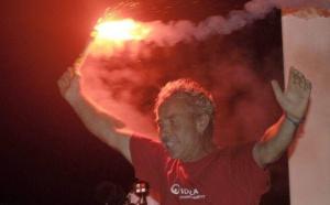 Roland Jourdain (Veolia Environnement ) vainqueur en monocoque de la Route du Rhum - La Banque Postale 2010 Guadeloupe