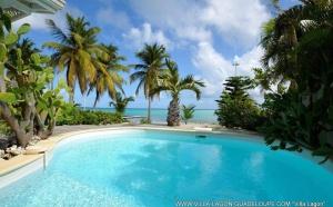 Nouvelle villa devant le lagon de Saint François