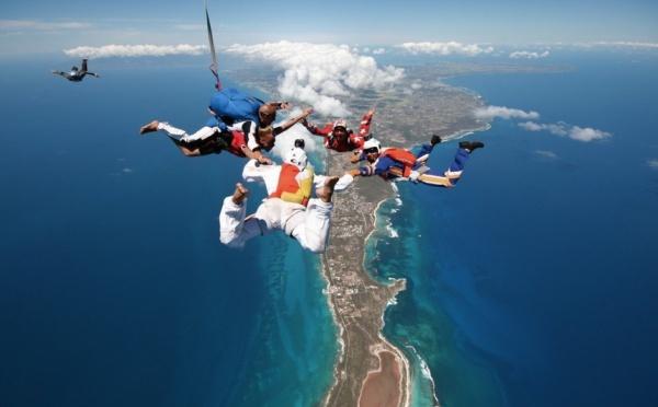Parachutisme Guadeloupe, vol libre, chute libre,