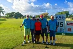 Open de Golf 2016 Saint François Guadeloupe equipe du pro Am  avec Nicolle de Villas Boubou
