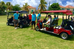 Open de Golf 2016 Saint François Guadeloupe equipe du pro Am de vant les Villas Boubou