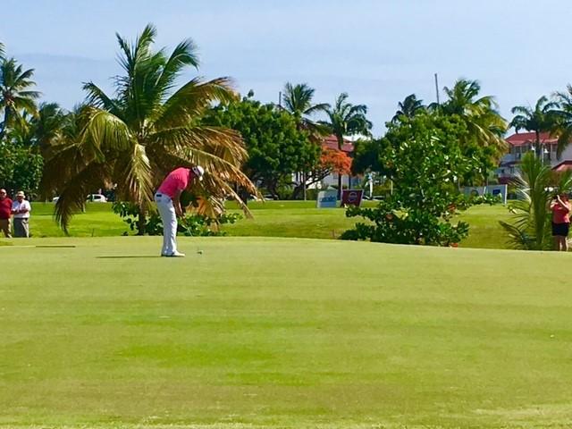 Lespinasse vainqueur de l'Open de Golf 2016 Saint François Guadeloupe