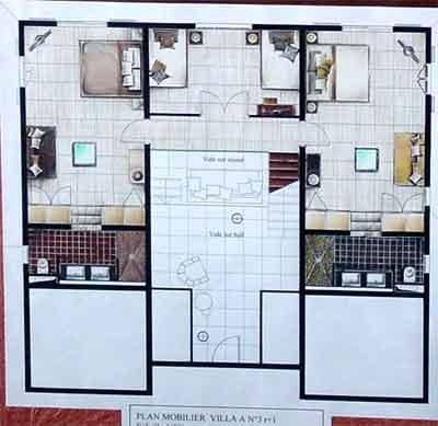 Villa de la plage 12 14 personnes galerie location for Plan de villa de luxe
