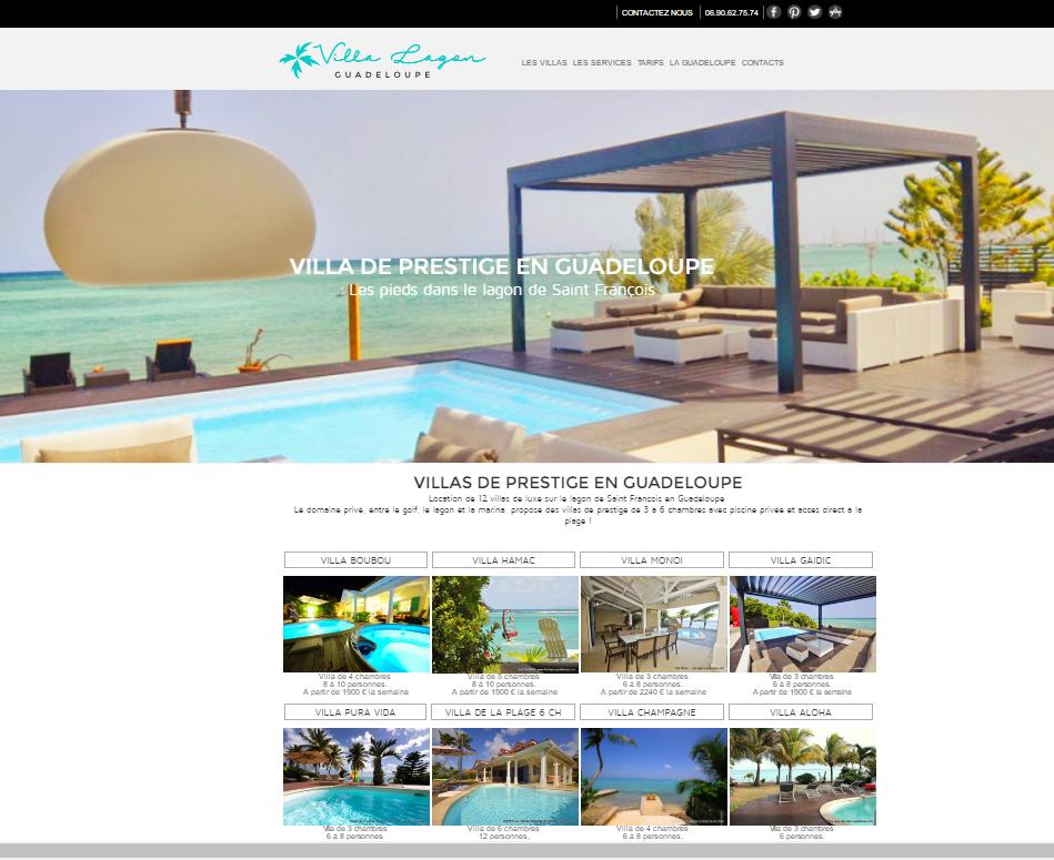 Location De Villas Luxe En Guadeloupe A Saint Francois Sur Le Lagon